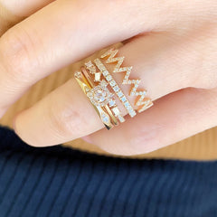 the zig zag band is ideal for stacking with other Liven rings