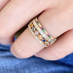 grace rings with rainbows