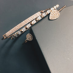 Diamond Pave Bar Bangle