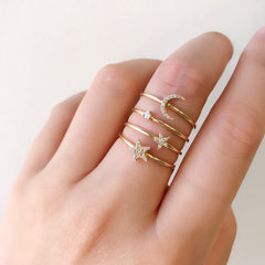 single souli stackable band with other liven rings