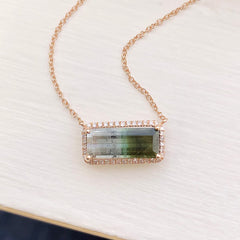 one of a kind tourmaline necklace