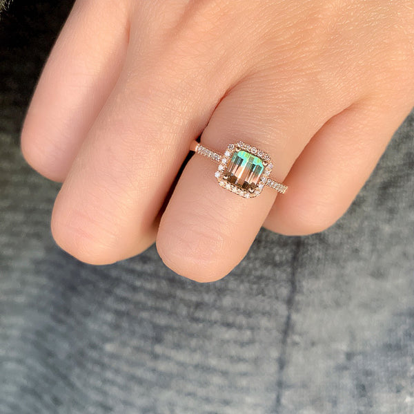 One of a Kind Bicolor Tourmaline Ring
