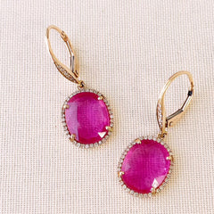 ruby one of a kind earrings