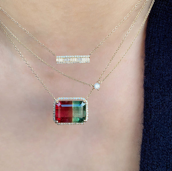One of a Kind Bicolor Tourmaline Necklace