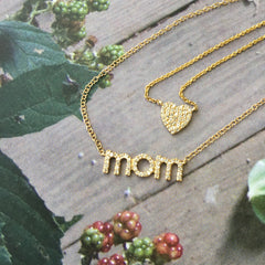 heart and mom necklaces