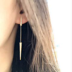 Double Dagger Dangle Earrings