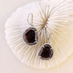 One of a Kind Geode Earrings