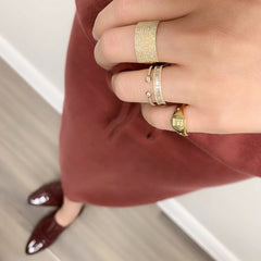 stacked Liven rings