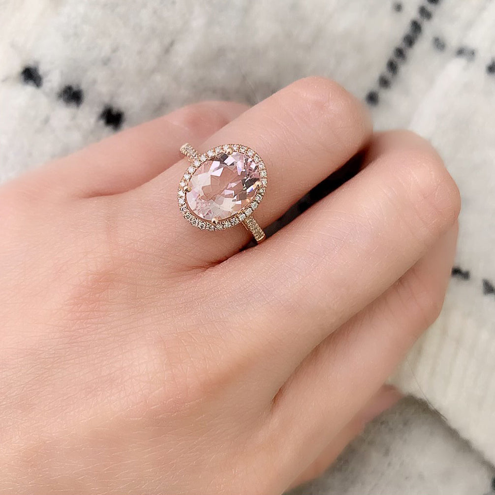 One of a Kind Blush Morganite Ring