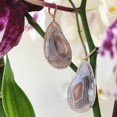 One of a Kind Agate Drop Earrings
