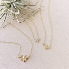 all 3 bee necklaces