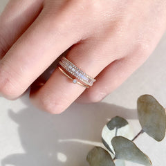 single bezel diamond ring as a stacker