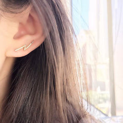 diamond ear climber on ear