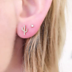 cactus and prong on ear