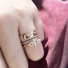 Heirloom triple rose cut ring