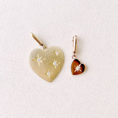 heart clip charms