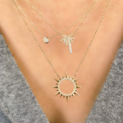Starburst Circle Necklace