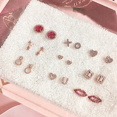 x o studs with other liven earrings
