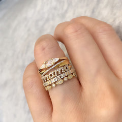 create an impactful look by stacking rings