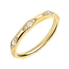 triple diamond cluster ring in 14k gold