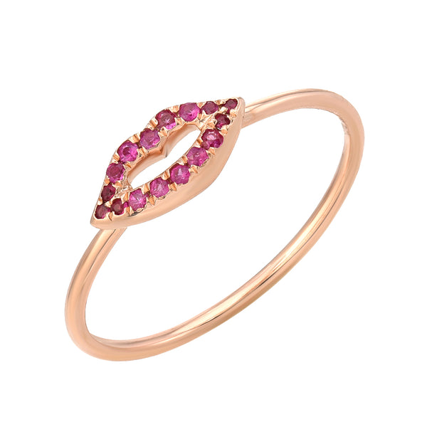 Ruby lips ring