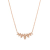 multi marquise necklace in rose gold