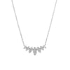 multi marquise necklace in white gold