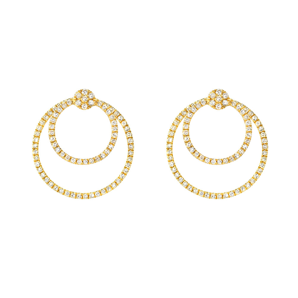Circle Within in a Circle Jacket Earrings