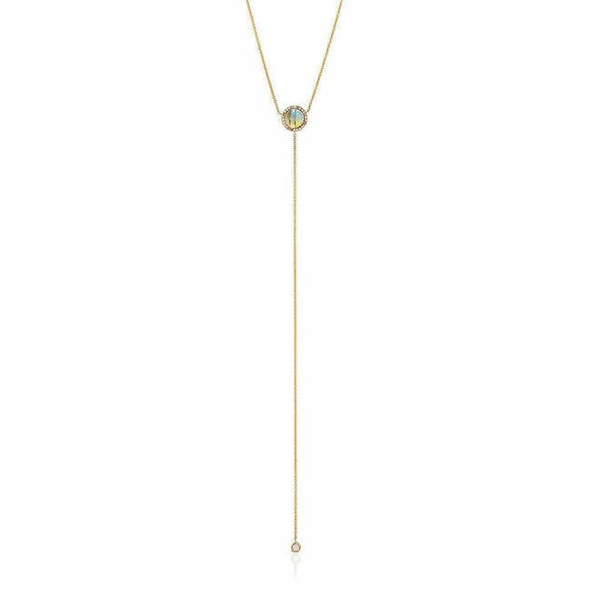 rosie colored stone lariat necklace