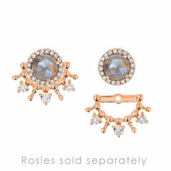 tiara ear jackets in rose gold