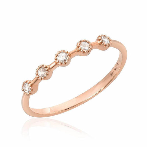 Heirloom Garland Band in rose gold