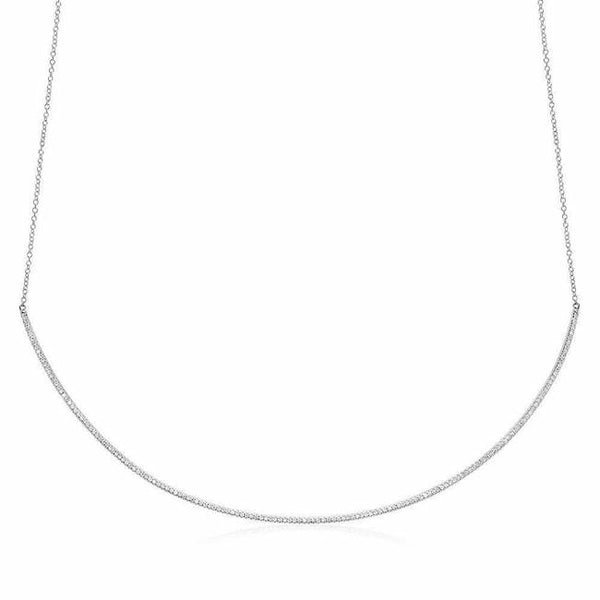 diamond collar necklace in white gold