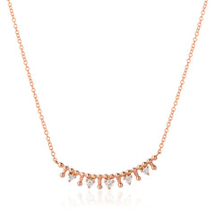 tiara bar necklace with diamonds