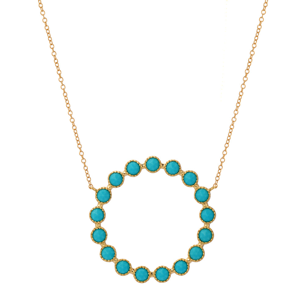 turquoise circle of life necklace