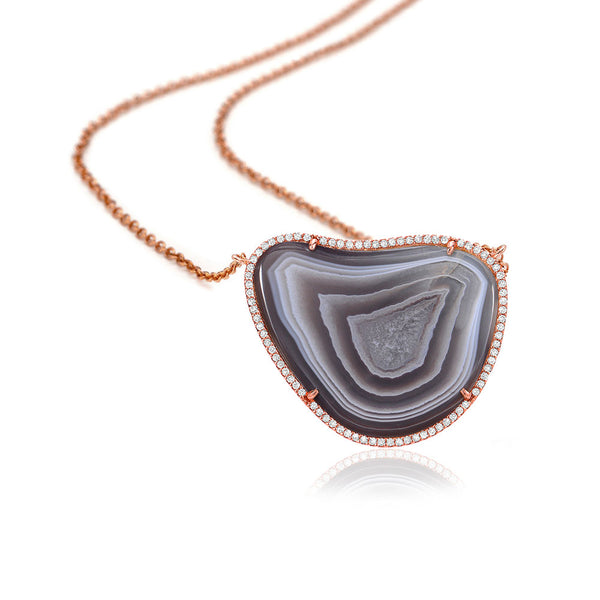 One of a Kind Agate Necklace III