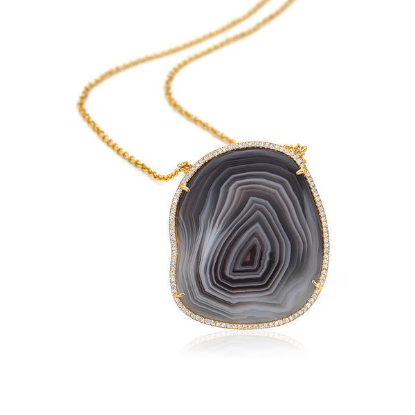 One of a Kind Agate Necklace IV