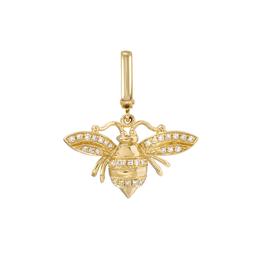 Diamond Bee Clip Charm