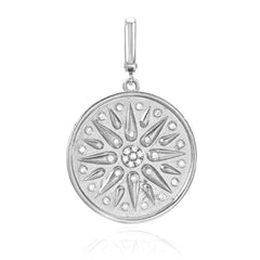 Talisman clip charm in 14k white gold