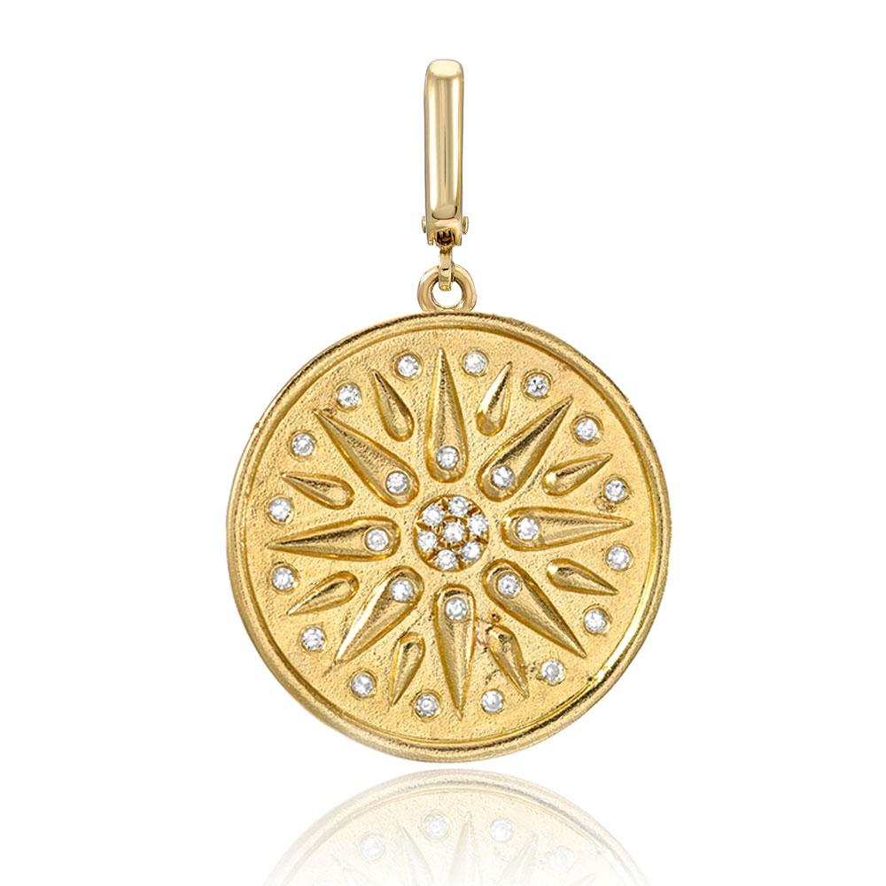 Talisman clip charm in 14k yellow gold