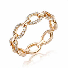 classic chain link eternity band in rose gold