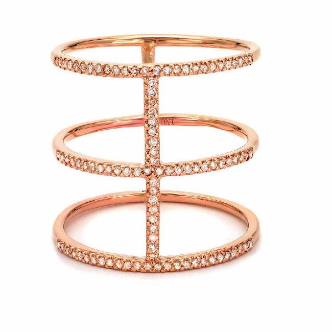 royal ring with diamonds in rose gold