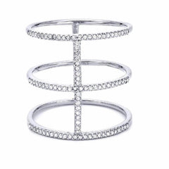 royal ring with diamonds in white gold
