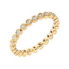 bezel set diamond eternity band in yellow gold