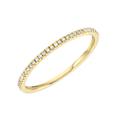14k gold and diamond halfway band