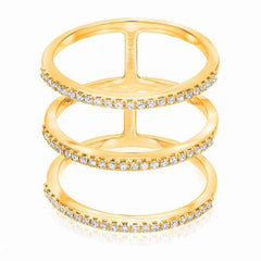 triple band ring in yellow gold