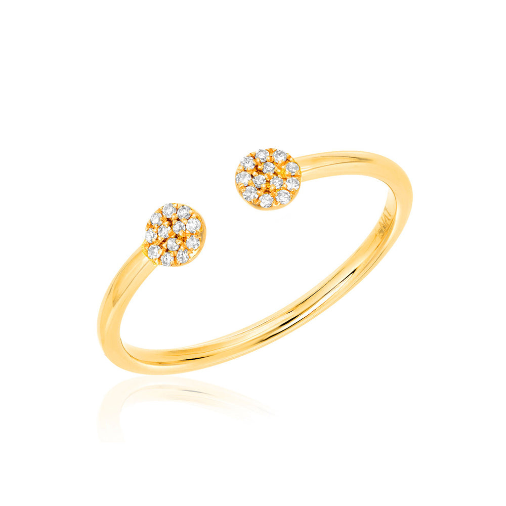 petite pave disc open ring