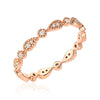 pear milgrain eternity band in rose gold