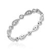 pear milgrain eternity band in white gold