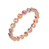 linea colored sapphire eternity band in 14k rose gold