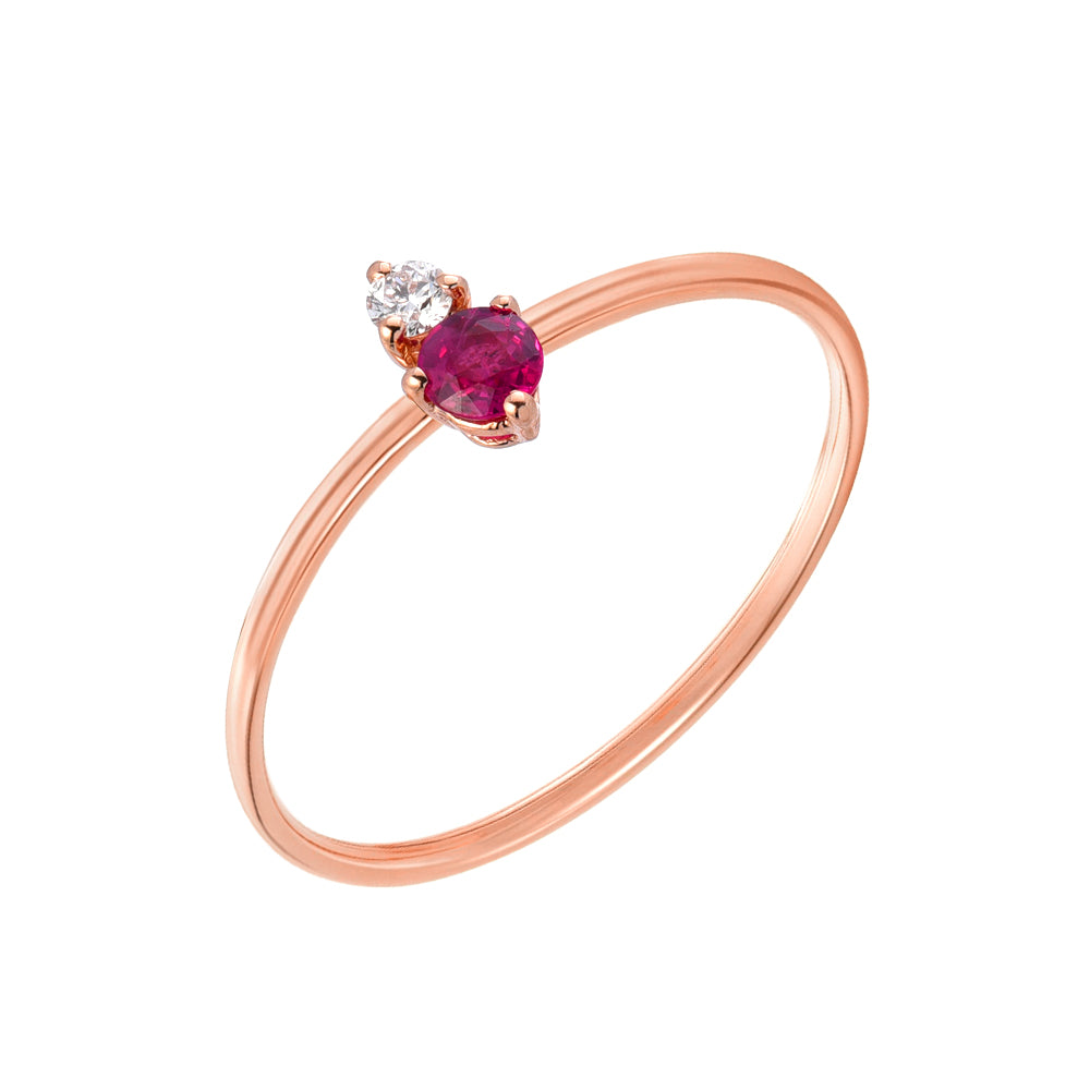 Souli Colored Stone And Diamond Ring